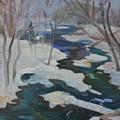 Winter Mill Stream  by Francine Frank