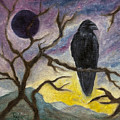 Winter Moon Raven by FT McKinstry