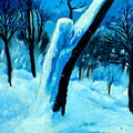 Winter Moonlight And Snow by Patrick Mills