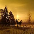 Winter Moose Statue by Ethyl Lyons