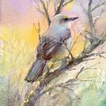 Winter Morning - Mockingbird by Elizabeth Evans