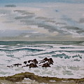 Winter Morning Seascape by Lynne Haines