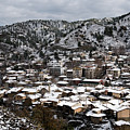 Winter Mountain Village Landscape With Snow by Michalakis Ppalis