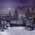 Winter Night Scene by John Junek