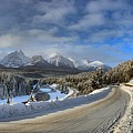 Morant's Curve On The Bow Valley Parkway by Adam Jewell