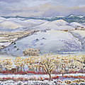 Winter Panorama From The River Mural by Dawn Senior-Trask