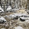 Winter River by Leland D Howard