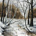 Winter River by Mary Tuomi