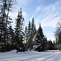 Winter Road 1 by Larry Ricker