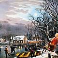 Winter Scene: Evening 1854 by Granger