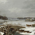 Winter Scene In Pennsylvania by Thomas Birch