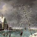 Winter Scene by Louis Claude Mallebranche