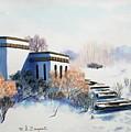 Winter Scene by M Diane Bonaparte