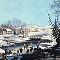 Winter Scene: Morning 1854 by Granger