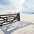 Winter Scene With Gate by Paul Dene Marlor