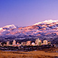 Winter Skyline Of Reno Nevada by Vance Fox