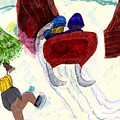 Winter Sleigh Ride Through The Tunnel by Elinor Helen Rakowski