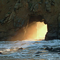 Winter Solstice Sunset In Big Sur by Charlene Mitchell
