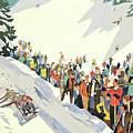 Winter Sport, Mountain, France by Long Shot