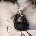Winter Steam At Rockwood Colorado by Ken Smith