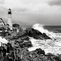 Winter Storm At Portland Head by Olivier Le Queinec