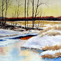 Winter Stream 1107 by Laura Tasheiko