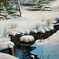 Winter Stream by Lorraine Vatcher