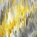 Winter Sun - Yellow And Gray Contemporary Art by Lourry Legarde