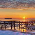 Winter Sunrise At The Beach by John Supan