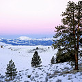 Winter Sunrise In The Mountains by Nadine Johnston