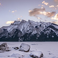 Winter Sunrise Lake Minnewanka by Yves Gagnon