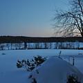 Winter Sunrise On Demond Pond by John Black