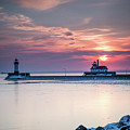 Winter Sunrise Over Canal Park Duluth Mn  by Tom Hansen