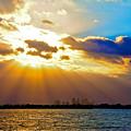 Winter Sunrise Over Miami Beach by William Wetmore