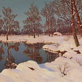 Winter Sunset By Ivan Fedorovich Choultse by Ivan Fedorovich Choultse