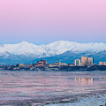 Winter Sunset Over Anchorage, Alaska by Scott Slone