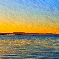 Winter Sunset Over Ipswich Bay by Harriet Harding