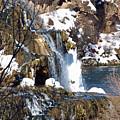 Winter Time At The Falls by DeeLon Merritt