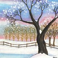 Winter Tree Landscape by Linda Mears
