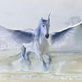 Winter Unicorn by Al G Smith