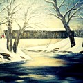 Winter Walk At Bennett's Mill Bridge by Gail Kirtz