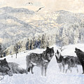 Winter Wolves by Lourry Legarde