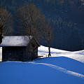 Winter Wonderland In Switzerland - The Barn In The Snow by Susanne Van Hulst