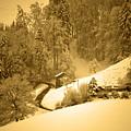 Winter Wonderland In Switzerland - Up The Hills by Susanne Van Hulst