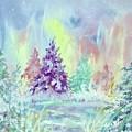Winter Wonderland Aurora Borealis  by Ellen Levinson