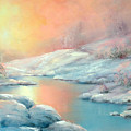 Winter's Sunset by Sally Seago