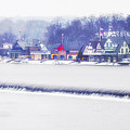 Wintertime At The Fairmount Dam And Boathouse Row by Bill Cannon