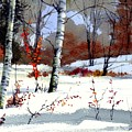 Wintertime Painting by Suzann Sines