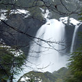 Wintertime Shahalee Falls Obscured By Branches by John Higby