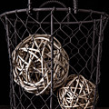 Wire Basket And Balls Still Life by Edward Fielding